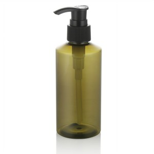 150ml slant shoulder green plastic bottle