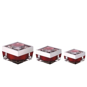 15g 30g 50g square red cosmetic container