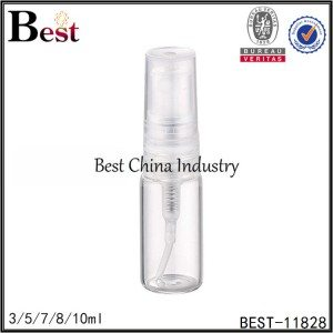 small clear tube perfume bottle clear plastic sprayer and cap 3/5/7/8/10ml