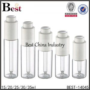 18mm neck tube glass bottle with white plastic press dropper 15/20/25/30/35ml