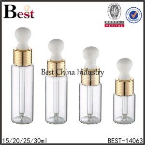 18mm big head clear glass dropper bottle 15/20/25/30ml