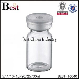 clear penicillin bottle silver cap 5/7/10/15/20/25/30ml