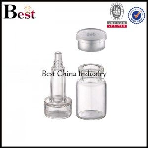 small penicillin bottle hyaluronic acid bottle with high plastic cap 3ml 4ml 5ml 7ml 10ml