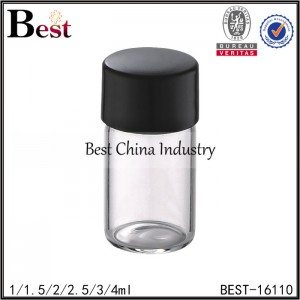 clear color tube bottle with plastic cap and insert 1ml 1.5ml 2ml 3ml 4ml