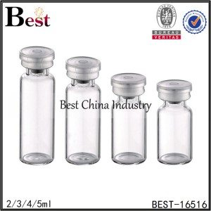 samll transparent glass penicillin bottle 2/3/4/5ml