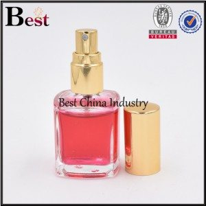 mini glass perfume bottle with screw sprayer 4ml