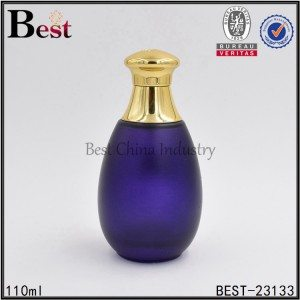 drop shaped purple glass perfume bottle 110 ml