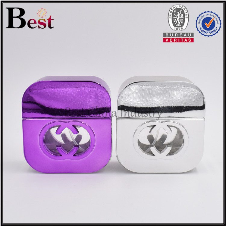square shaped glass perfume bottle 35 ml