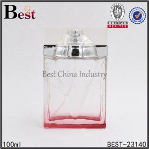 square shaped glass perfume bottle 100 ml