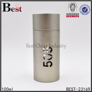 straight round gold perfume bottle 100ml