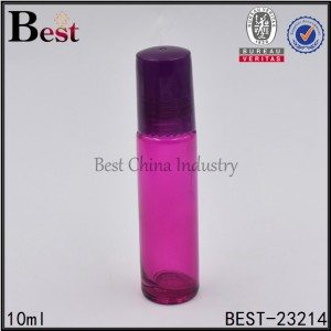 red glass roller bottle with cap 10ml
