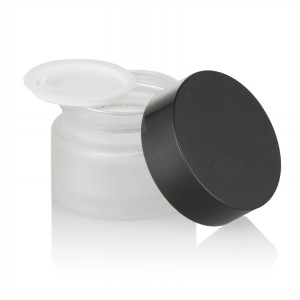 15g / 30g / 50g frosted glass jar + PE liner + black ABS lids