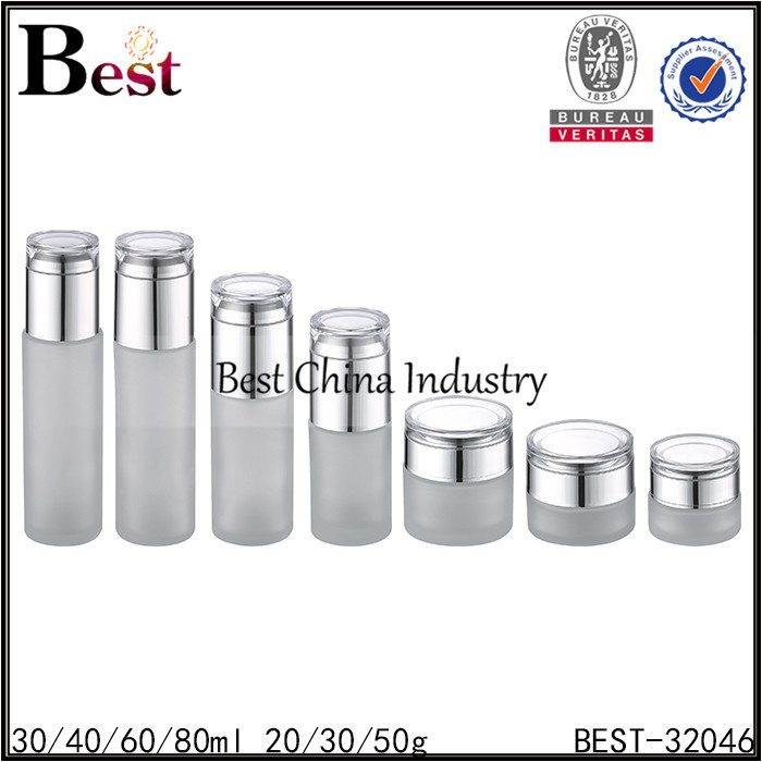 glass bottle and glass jar 30/40/60/80ml,20/30/50g