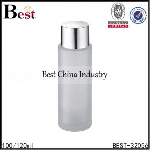 frosted glass bottle silver cap 100/120ml