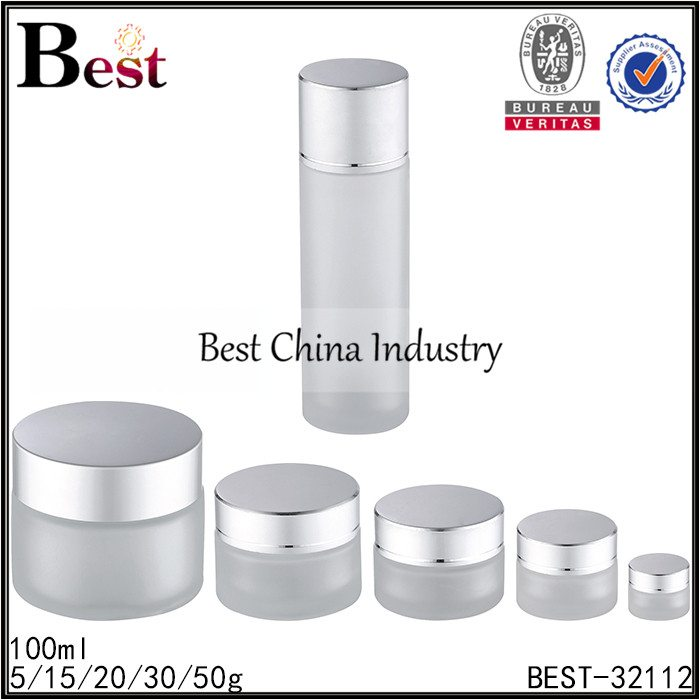 set cosmetic bottle and jar 100ml, 5/15/20/30/50g