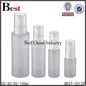 frosted glass bottle with sprayer 20/30/50/100ml