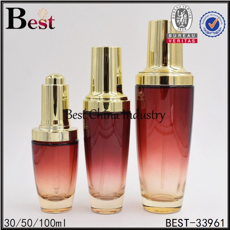 red color glass bottle 30/50/100ml