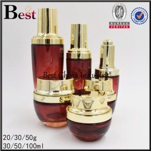 red glass bottle and jar 20/30/50g, 30/50/100ml