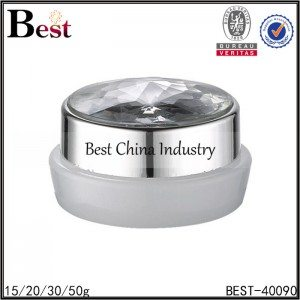 white color acrylic jar with silver cap 15/20/30/50g