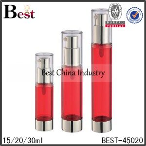 red airless lotion pump bottle 15/20/30ml
