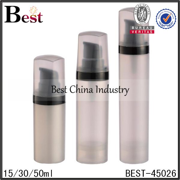 grey PP airless lotion pump bottle 15/30/50ml