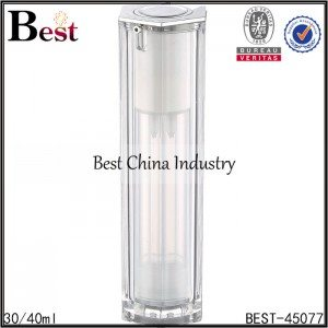 30/40ml clear frosted acrylic lotion bottle