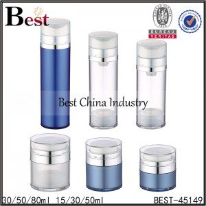 clear/blue airless jar 15/30/50g, clear/blue airless bottle 30/50/80ml