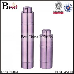 purple color press pump airless bottle 15/30/50ml