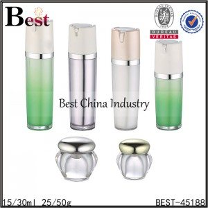 acrylic bottle 15ml 30ml with acrylic jar 25g 50g set