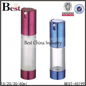red/blue airless bottle 15/20/30/40ml