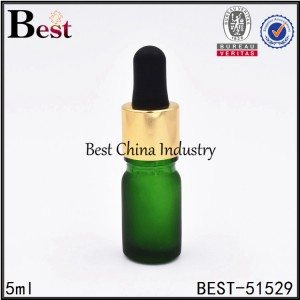 mini green frost matte color glass dropper bottle 5ml 10ml