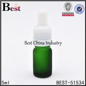 mini cosmetic green glass dropper bottle 5ml