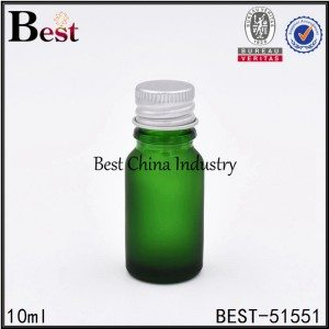 cosmetic green glass essential serum bottle sample 5ml 10ml 30ml