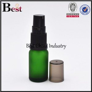 cosmetic green glass bottle with sprayer 5ml 10ml 15ml
