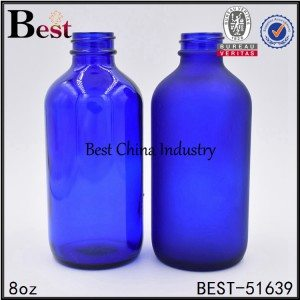 amber green blue frosted cosmetic Boston glass essential oil bottle 8oz