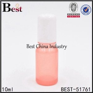 China empty cosmetic glass essential oil bottle with aluminum cap 10ml 30ml 50ml