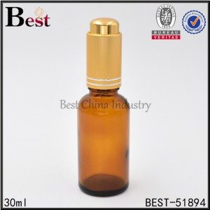 amber color glass essential oil dropper bottle 30ml 1oz
