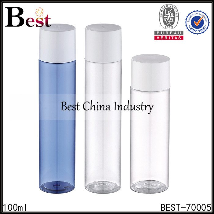 clear blue color cosmetic plastic bottle 100ml 200ml