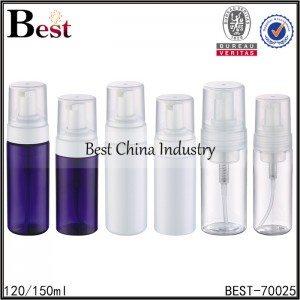 colored PET foamer bottle 120ml, 150ml