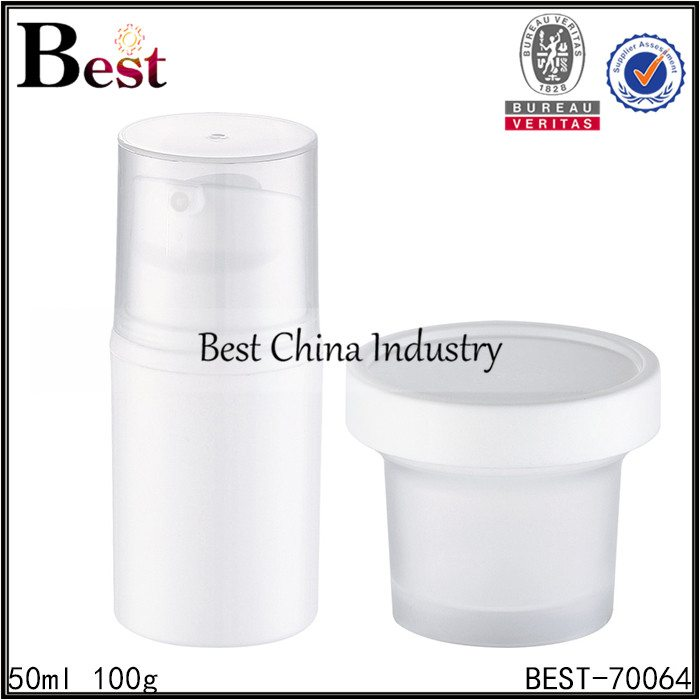 plastic cosmetic bottle and jar 50ml 100g