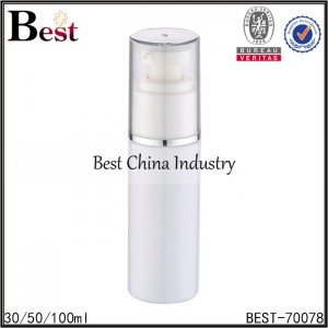plastic white lotion bottle with lotion pump 30/50/100ml