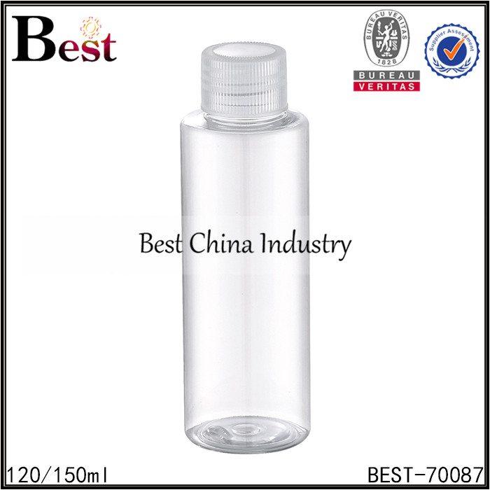 clear PET bottle with screw cap 120/150ml