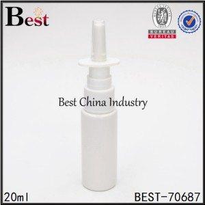 white plastic nasal sprayer bottle 20ml