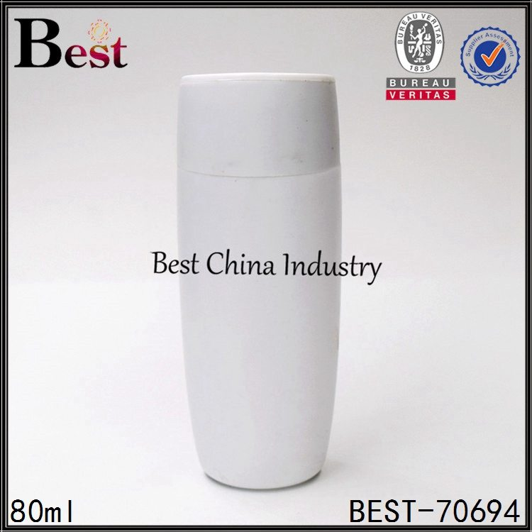 white PP plastic shampoo bottle with flip top cap 80ml