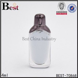 flat plastic perfume bottle 4ml