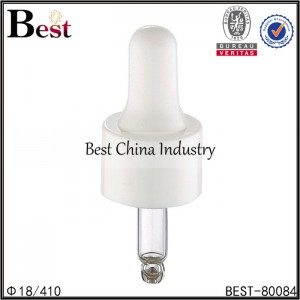 white plastic dropper cap 18/410