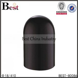 black plastic round shape bottle cap 18/410