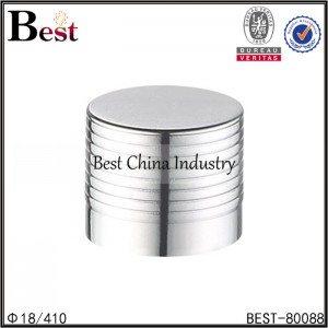 silver aluminum essential oil cap 18/410