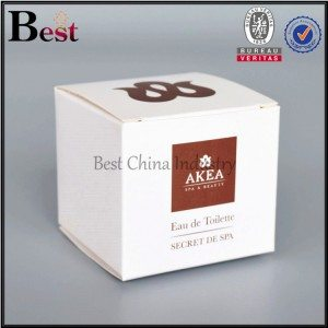 square paper cosmetic box with window