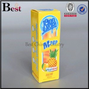 yellow paper box for lotion bottle